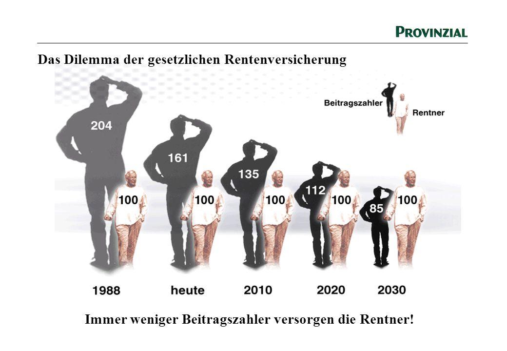 Das Dilemma der gesetzlichen Rentenversicherung Immer weniger Beitragszahler versorgen die Rentner!