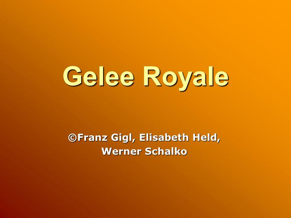 Gelee Royale ©Franz Gigl, Elisabeth Held, Werner Schalko