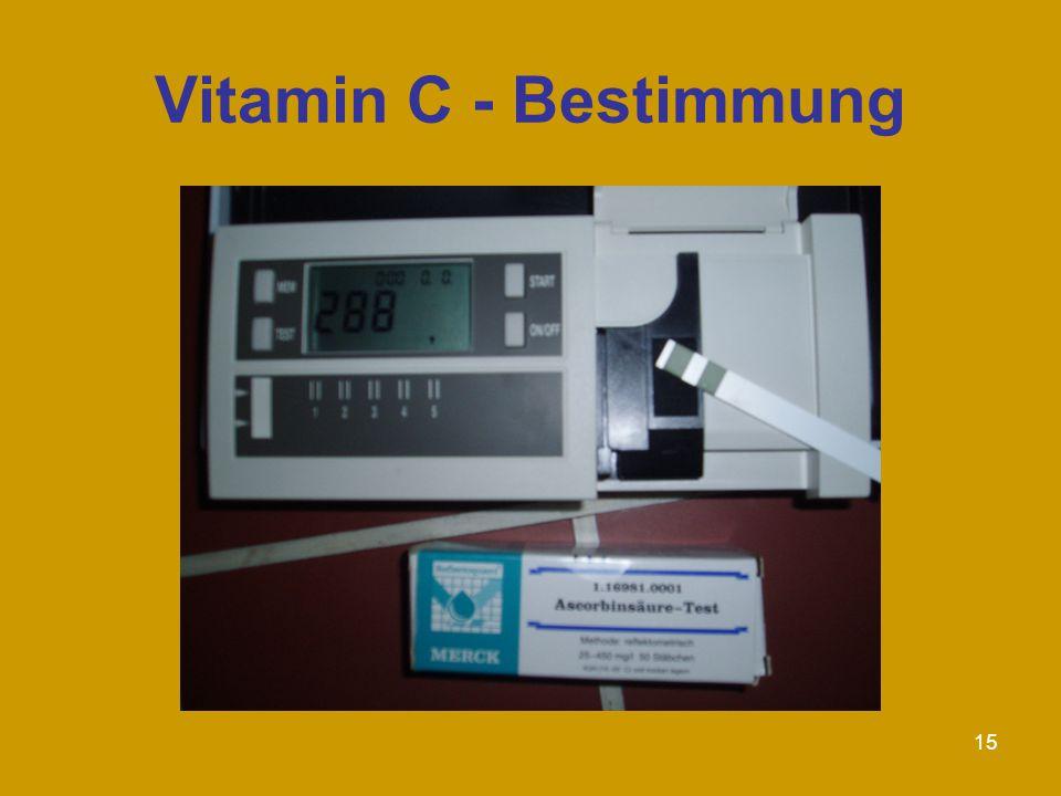 15 Vitamin C - Bestimmung