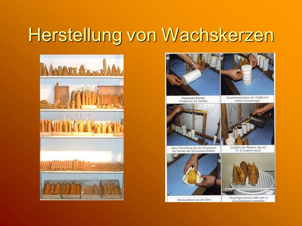 Herstellung von Wachskerzen