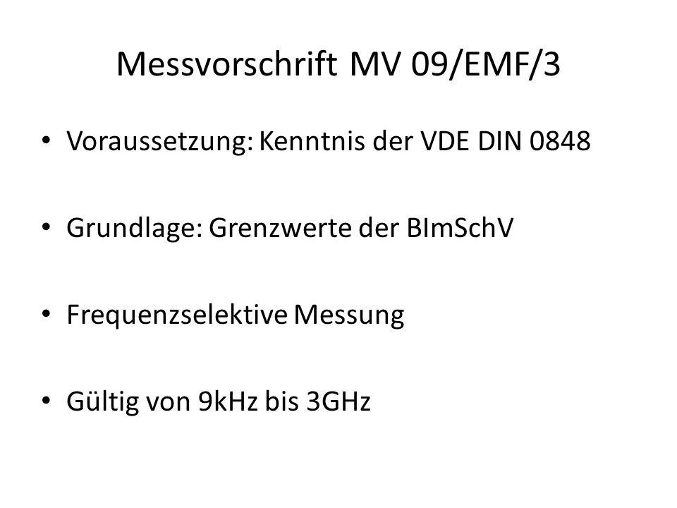 """Messort im Fernfeld der Antenne/Station Umrechnungsmöglichkeit von E und H ineinander Messung der Spitzenwerte (""""worst-case- Szenario ) Abschätzung der Messunsicherheit"""