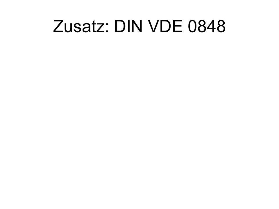 Zusatz: DIN VDE 0848