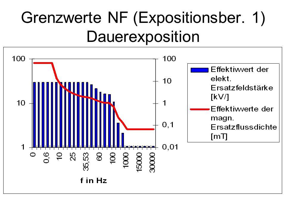 Grenzwerte NF (Expositionsber. 1) Dauerexposition