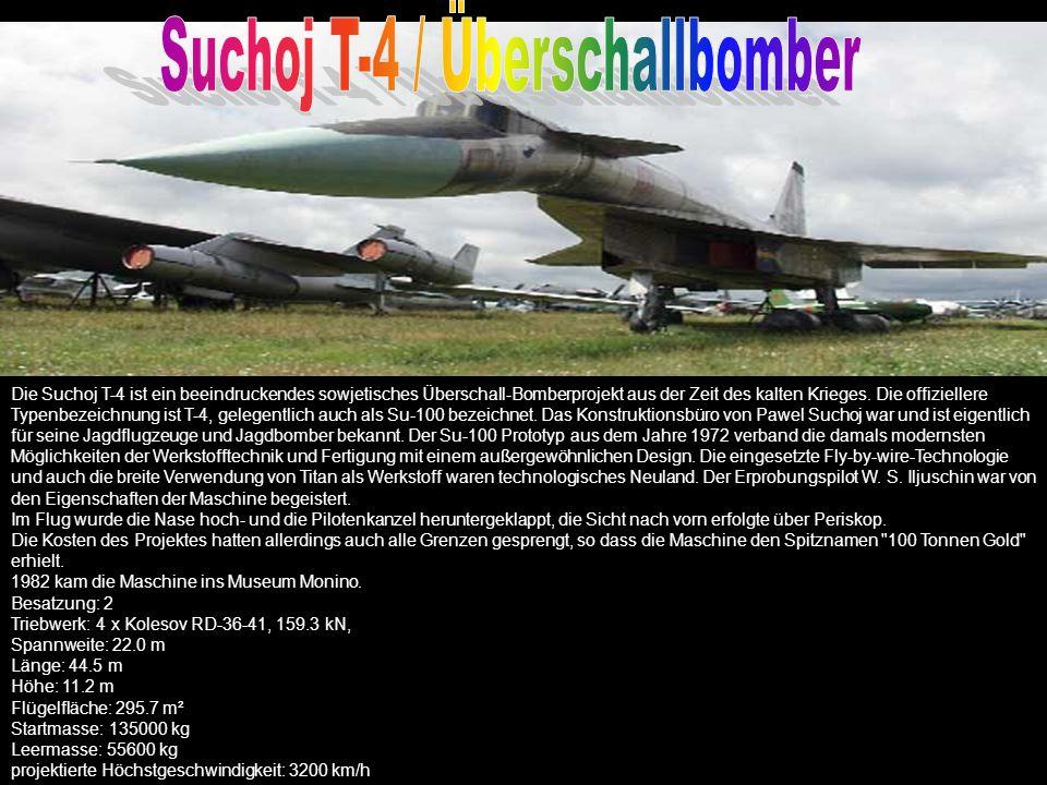 TECHNISCHE DATEN Panavia Tornado F.Mk3 Typ: zweisitziger Langstreckenabfangjäger Triebwerk: 2 Turbo-Union-RB-199-34R-Mk- 104-3-Wellen Bläsertriebwerke Standschub: 4810 kp mit Nachbrenner: 8440 kp Abmessungen: Länge 18,07 m Spannweite: 13,9 m mit gespreizten Tragflächen (25° Grad Spreizwinkel) Spannweite: 8,6 m mit angelegten Tragflächen (68° Grad Spreizwinkel) Bewaffnung: eine 27mm-Möser-Kanone 4 BAe-Sky-Flash Flugkörper 4 AIM-9L-Luft-Luft Raketen Höchstgeschwindigkeit: Hoch (ohne Lasten): Mach 2,2 = 2340 km/h Tief (ohne Lasten): Mach 1,2 = 1430 km/h Tief (mit Lasten): Mach 0,9 = 1072 km/h Einsatzreichweite: 1852 km