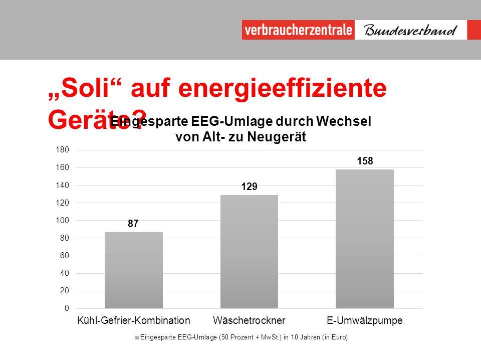 """""""Soli auf energieeffiziente Geräte?"""