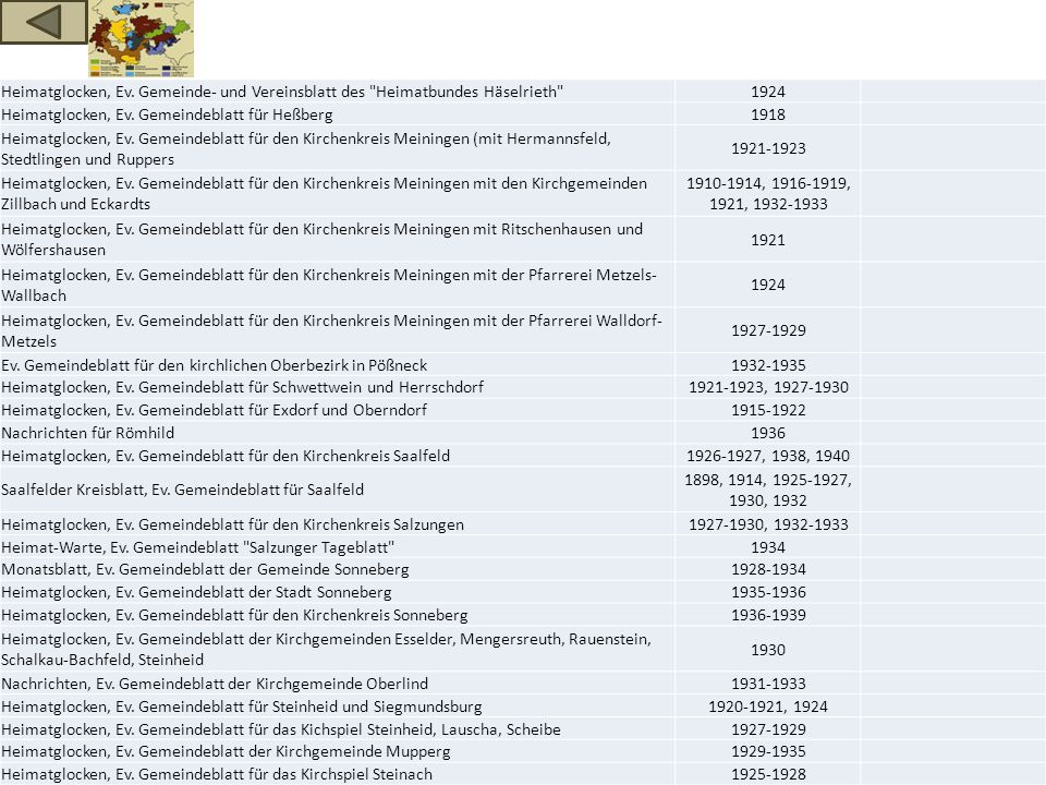 Heimatglocken, Ev. Gemeinde- und Vereinsblatt des