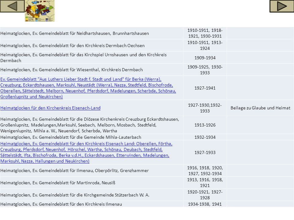 Heimatglocken, Ev. Gemeindeblatt für Neidhartshausen, Brunnhartshausen 1910-1911, 1918- 1921, 1930-1931 Heimatglocken, Ev. Gemeindeblatt für den Kirch