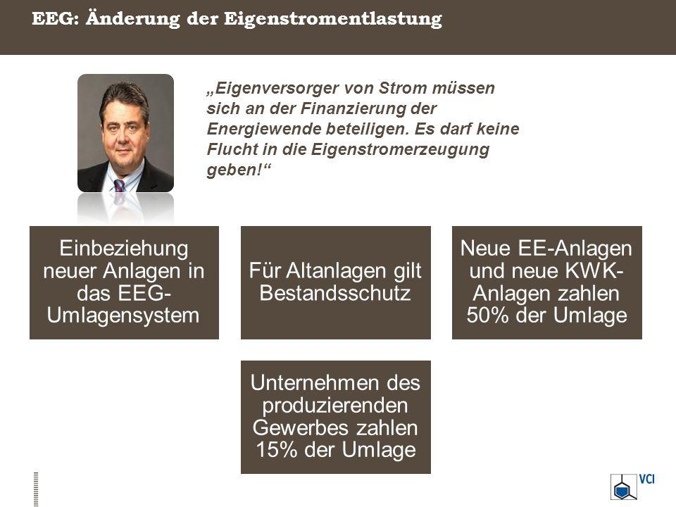 """EEG: Änderung der Eigenstromentlastung """"Eigenversorger von Strom müssen sich an der Finanzierung der Energiewende beteiligen. Es darf keine Flucht in"""