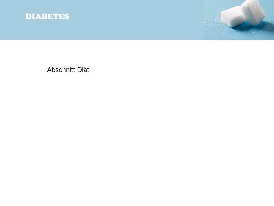 Abschnitt Diät