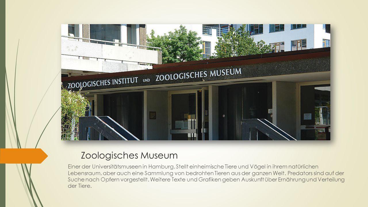 Zoologisches Museum Einer der Universitätsmuseen in Hamburg. Stellt einheimische Tiere und Vögel in ihrem natürlichen Lebensraum, aber auch eine Samml