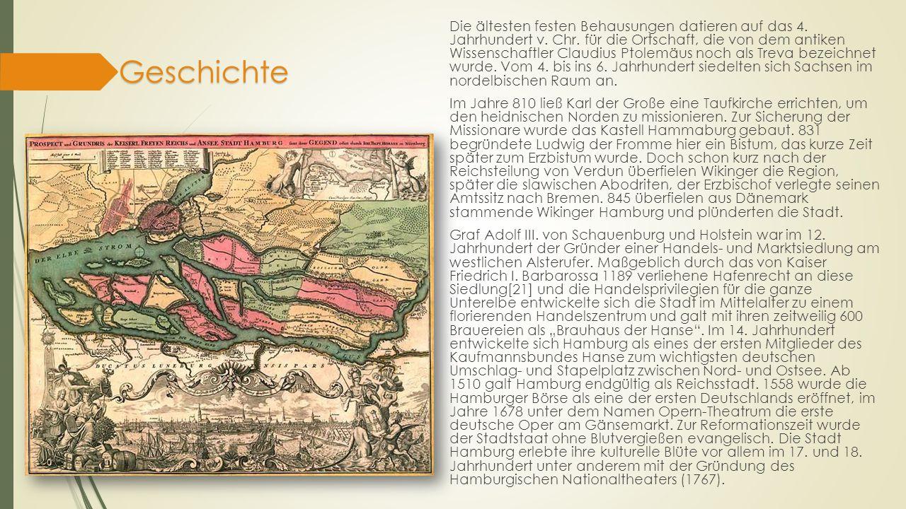 Geschichte Jungfernstieg um 1895 Auch nach dem Niedergang der Hanse und während der Aufklärung und der Industrialisierung blieb die Stadt neben Berlin das bedeutendste Wirtschaftszentrum Norddeutschlands.
