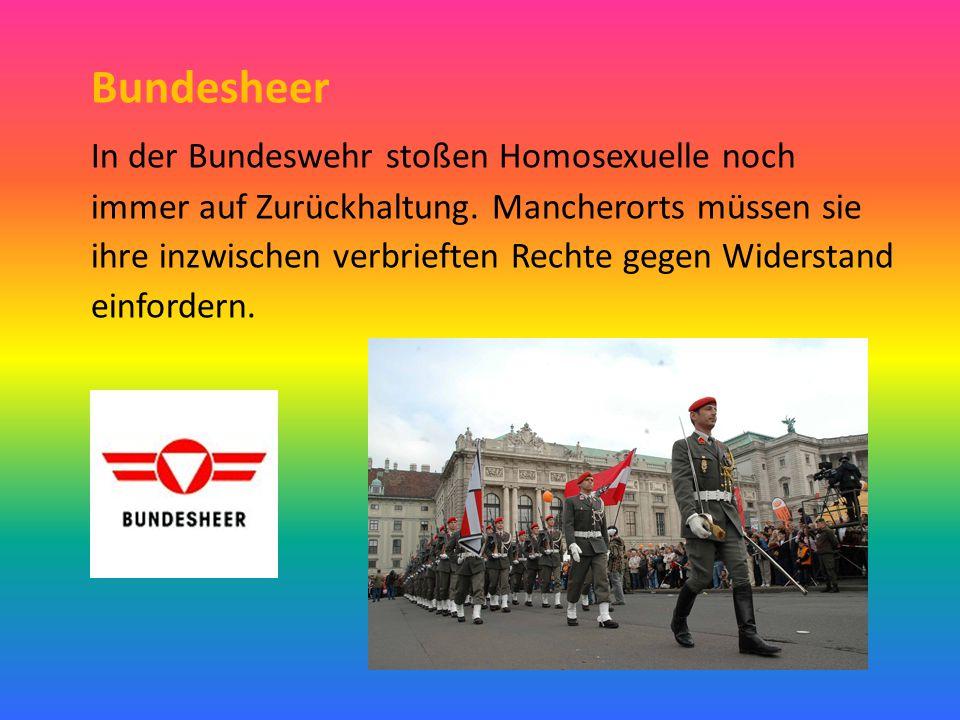 Bundesheer In der Bundeswehr stoßen Homosexuelle noch immer auf Zurückhaltung. Mancherorts müssen sie ihre inzwischen verbrieften Rechte gegen Widerst