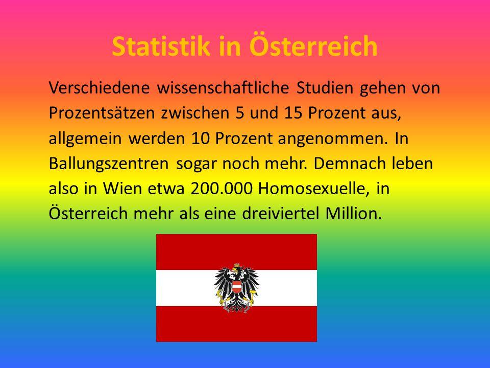 Statistik in Österreich Verschiedene wissenschaftliche Studien gehen von Prozentsätzen zwischen 5 und 15 Prozent aus, allgemein werden 10 Prozent ange