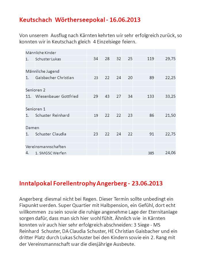 Keutschach Wörtherseepokal - 16.06.2013 Von unserem Ausflug nach Kärnten kehrten wir sehr erfolgreich zurück, so konnten wir in Keutschach gleich 4 Ei