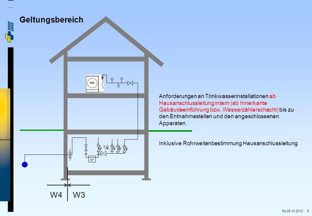 5 Anforderungen an Trinkwasserinstallationen ab Hausanschlussleitung intern (ab Innerkante Gebäudeeinführung bzw. Wasserzählerschacht) bis zu den Entn