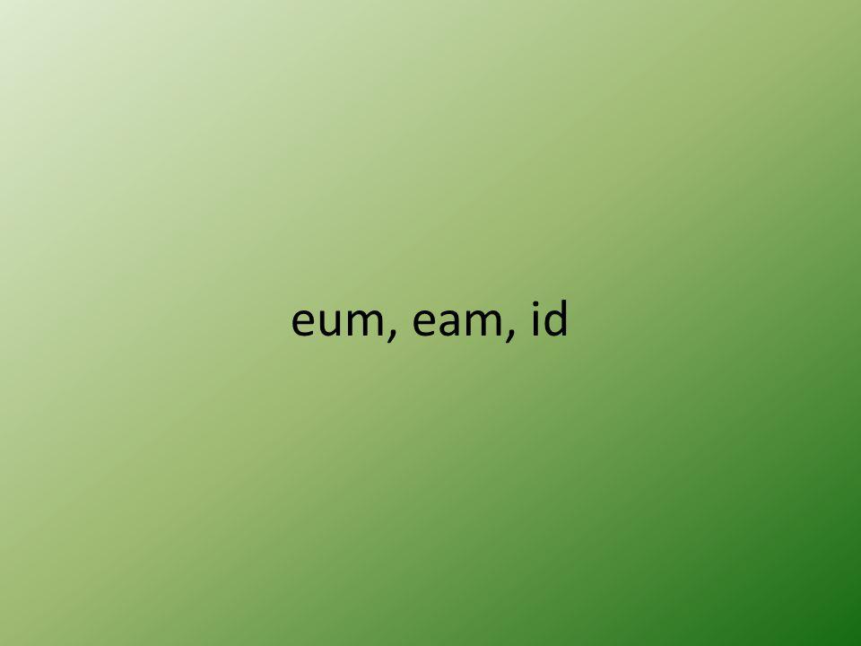 eum, eam, id