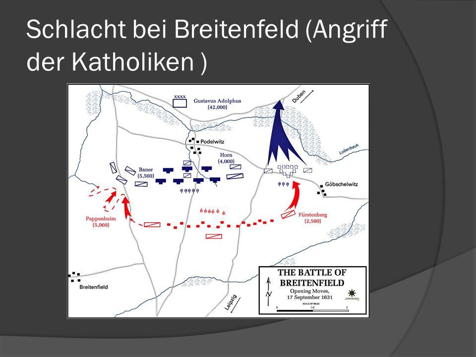Schlacht bei Breitenfeld (Angriff der Katholiken )