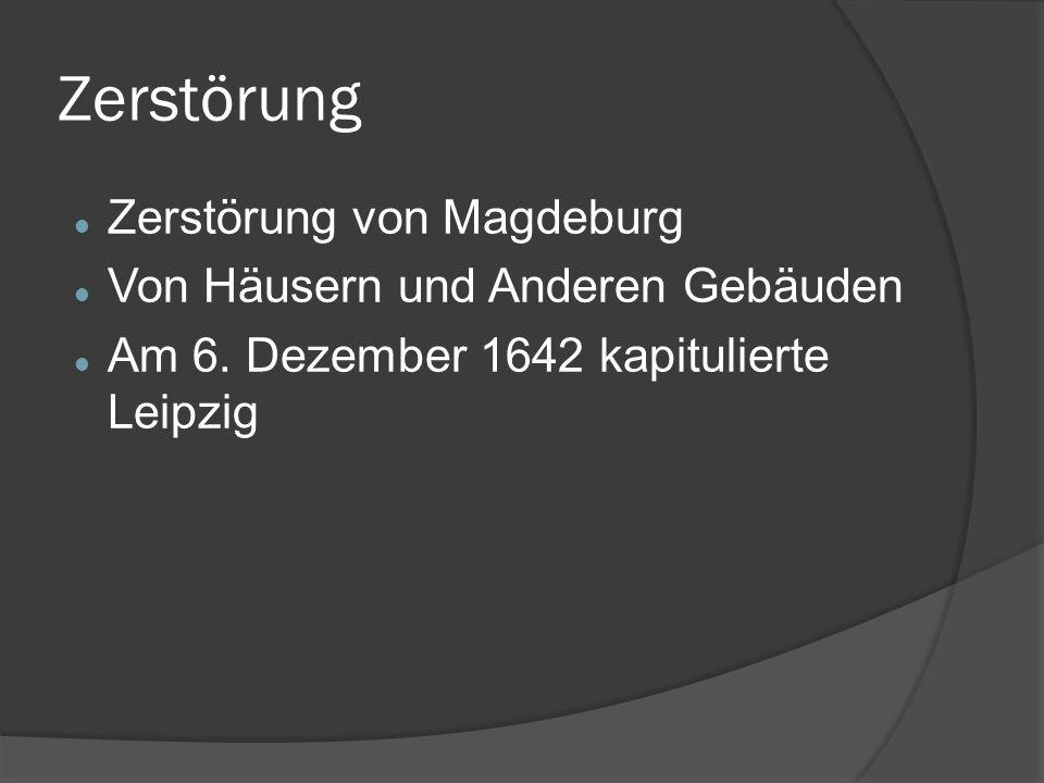 Zerstörung Zerstörung von Magdeburg Von Häusern und Anderen Gebäuden Am 6.