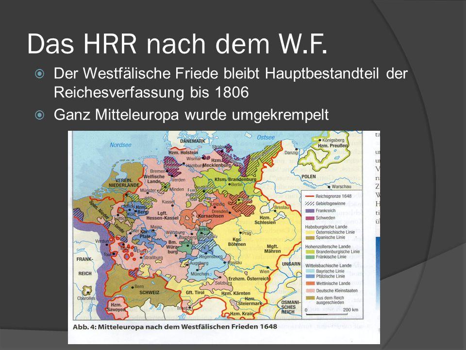 Das HRR nach dem W.F.