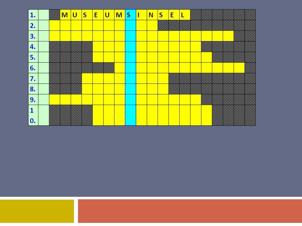 1.MUSEUMSINSEL 2. 3. 4. 5. 6. 7. 8. 9. 1 0.