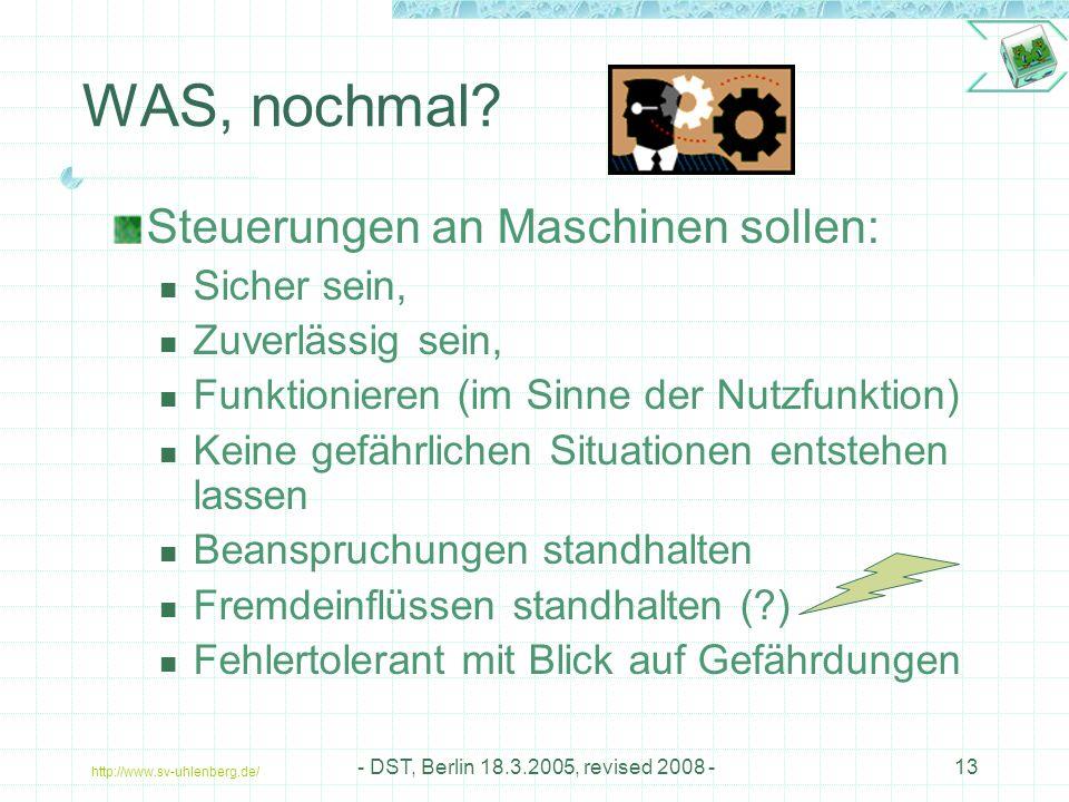 http://www.sv-uhlenberg.de/ - DST, Berlin 18.3.2005, revised 2008 -13 WAS, nochmal.