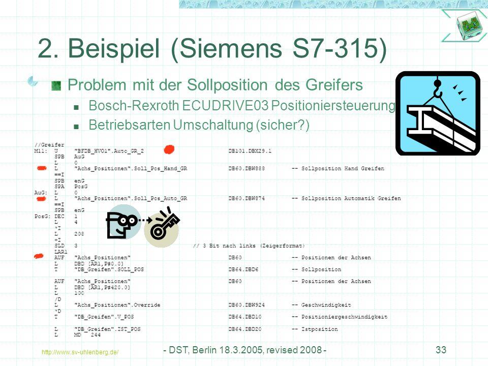 http://www.sv-uhlenberg.de/ - DST, Berlin 18.3.2005, revised 2008 -33 2.