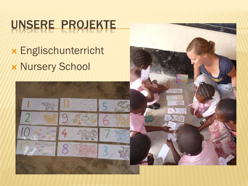  Englischunterricht  Nursery School