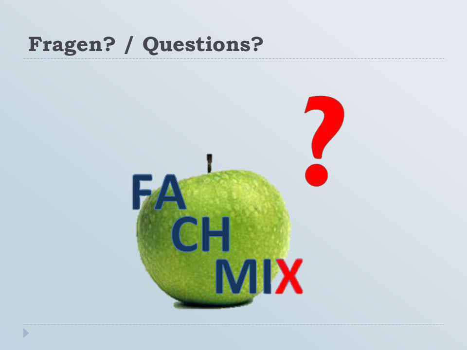 Fragen? / Questions?