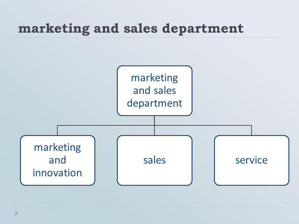 marketing and sales department marketing and innovation salesservice