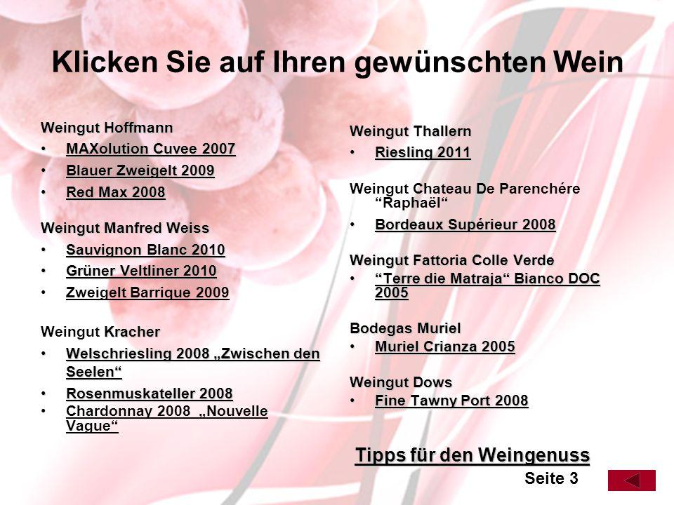 Sauvignon Blanc 2010 Weingut Manfred Weiss Trocken, in der Nase Hollerblüten- und Grapefruitnoten, vollmundig und saftig, rassige Säure und lang anhaltender Geschmack.