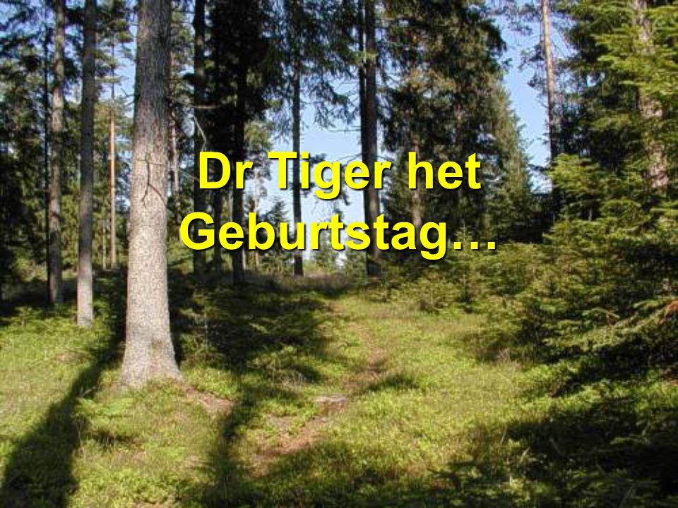 Dr Tiger het Geburtstag…