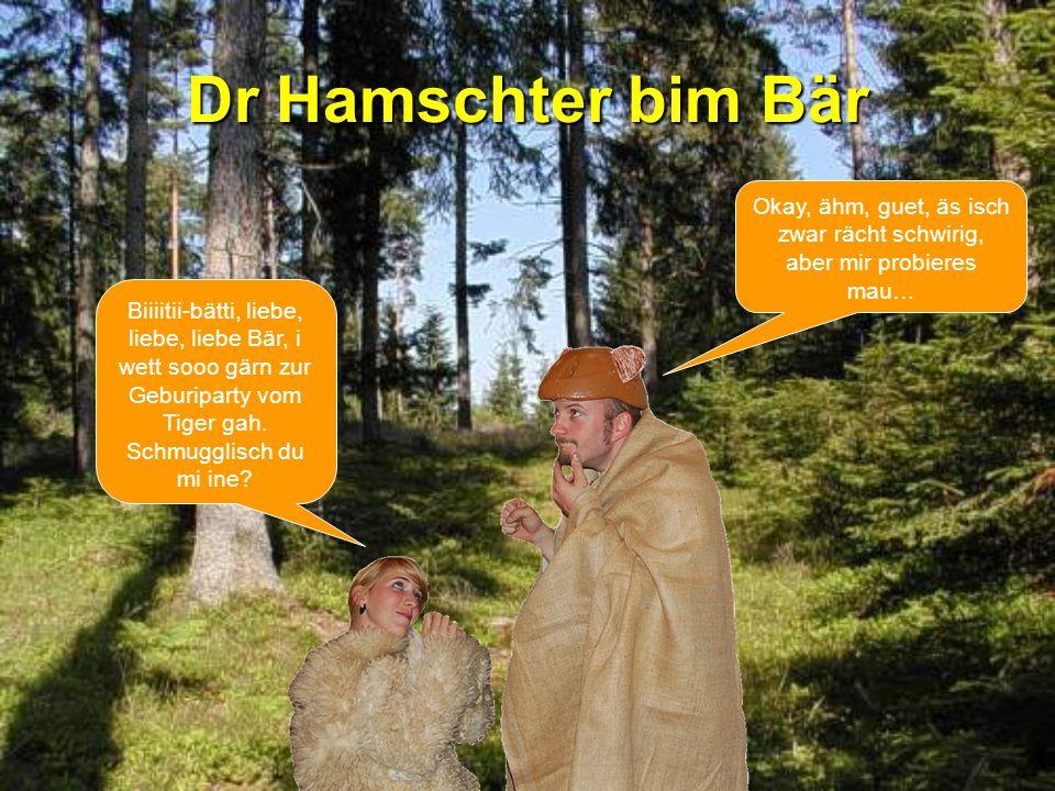 Dr Tiger isch misstrouisch Bär, haut!!.