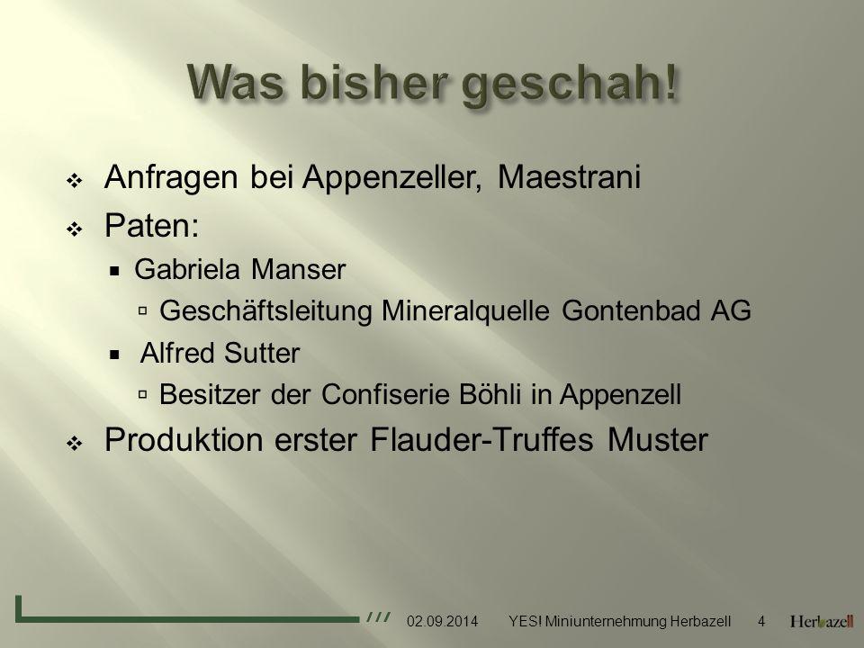  Product:  Truffes aus dem Appenzellerland  Hohe Qualität  Name: Verbindung zu Appenzell  Mit Puderzuckerüberzug  Verpackung.