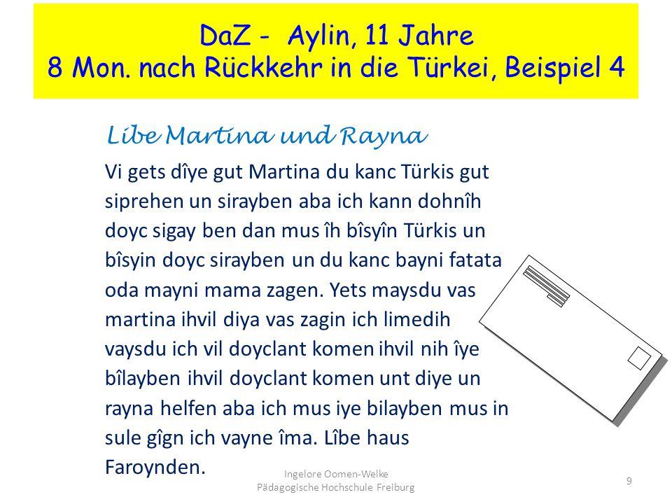 DaZ - Aylin, 11 Jahre 8 Mon.