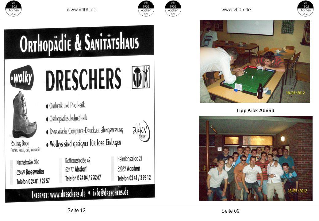 www.vfl05.de Seite 09 Seite 12 Tipp Kick Abend