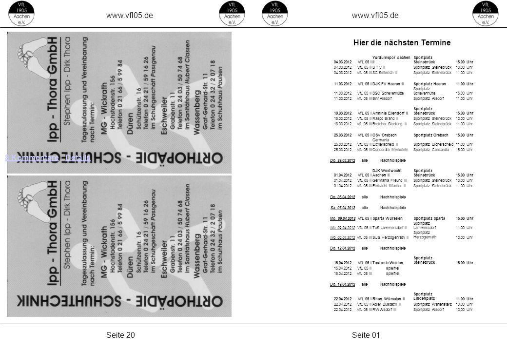 www.vfl05.de Seite 01Seite 20 8 Kommentare8 Kommentare · DetailsDetails 04.03.2012VfL 05 I Yurdumspor Aachen II Sportplatz Steinebrück15.00 Uhr 04.03.