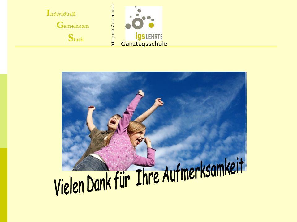 I ndividuell G emeinsam S tark Ganztagsschule Integrierte Gesamtschule