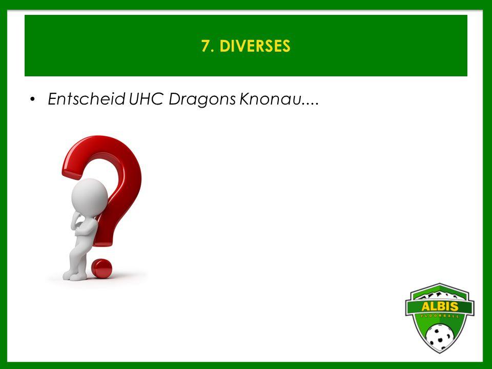 7. DIVERSES Entscheid UHC Dragons Knonau....