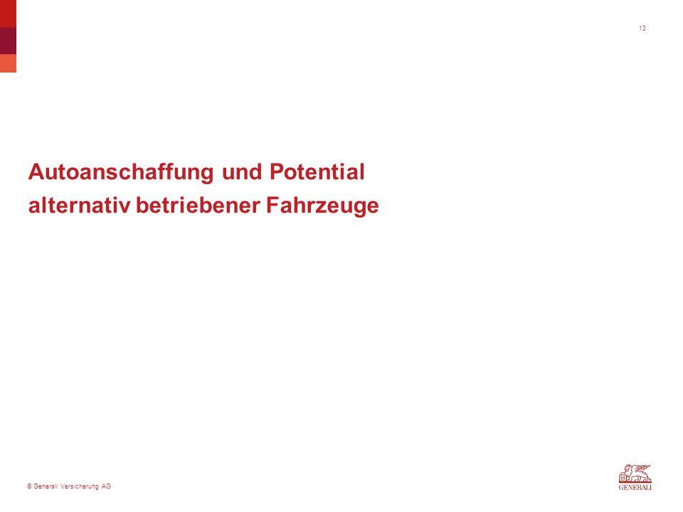 © Generali Versicherung AG Autoanschaffung und Potential alternativ betriebener Fahrzeuge 13