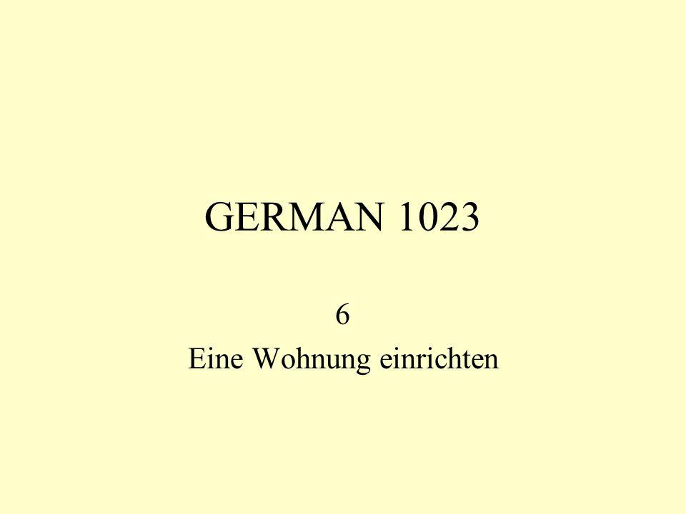 GERMAN 1023 6 Eine Wohnung einrichten