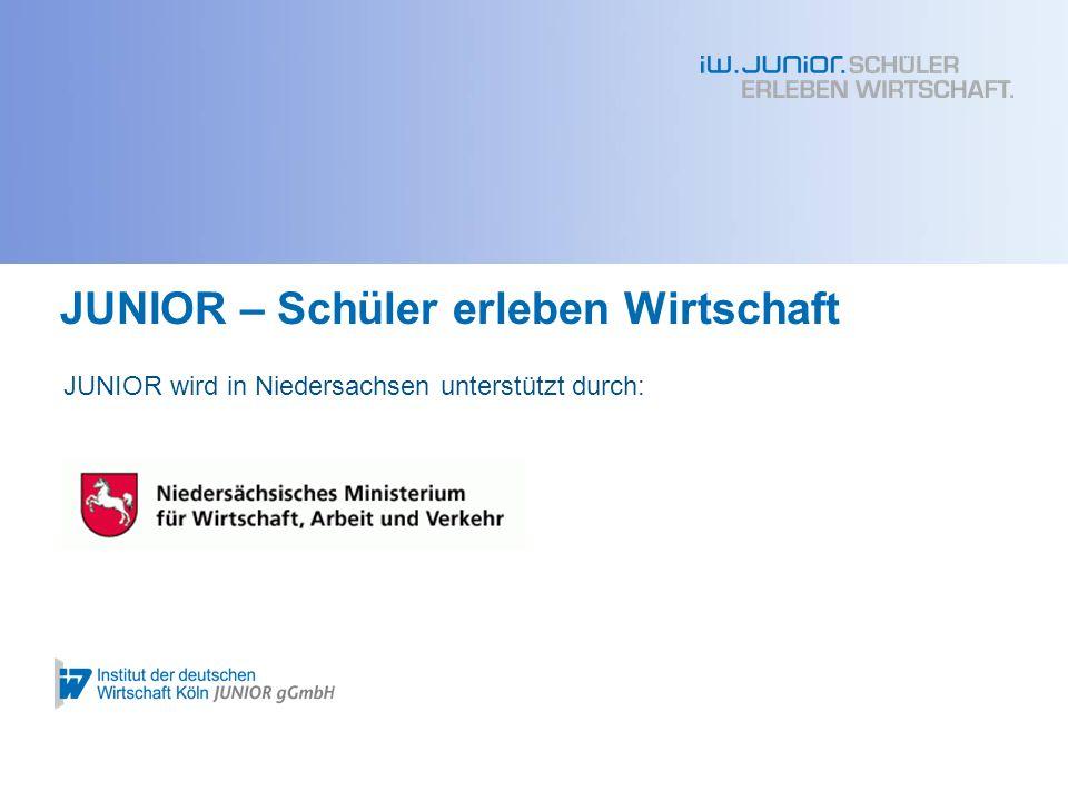 Das Projektjahr bei der IW JUNIOR gGmbH Übersicht Produktion, Marketing & Verkauf Arbeitsorganisation Teamfindung Zertifikate Geschäftsidee & Firmenname Kapitalbeschaffung