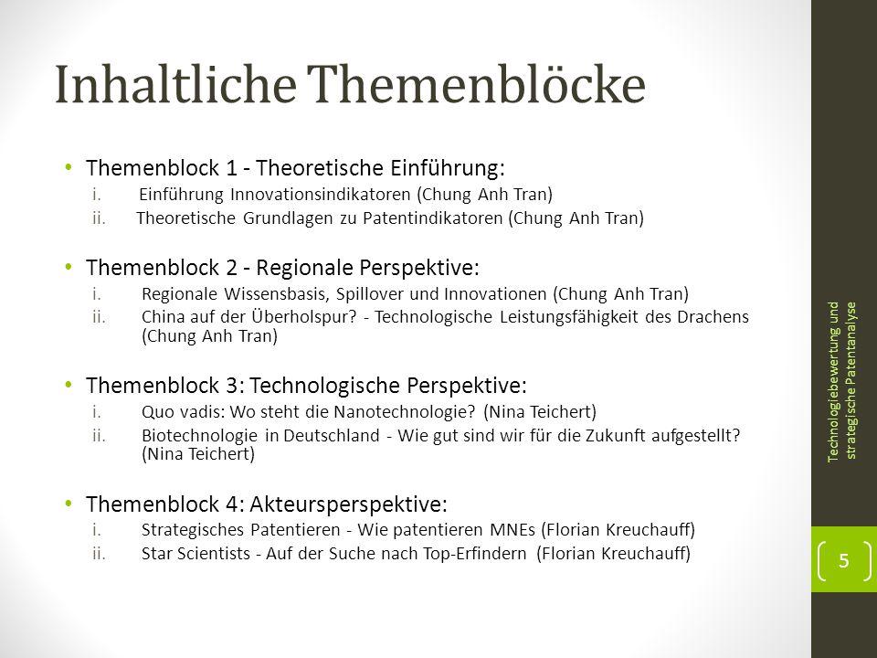 Einführung Innovationsindikatoren Theoretischer Überblick und Einleitung in die Seminarthematik.