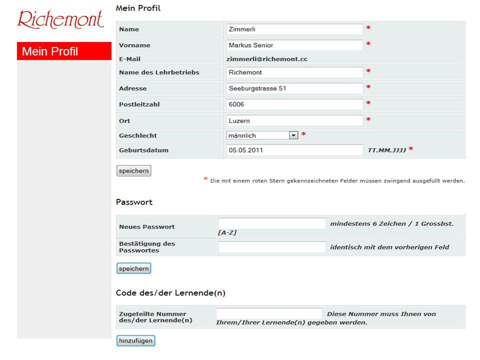Richemont Kompetenzzentrum Bäckerei Konditorei Confiserie Mein Profil