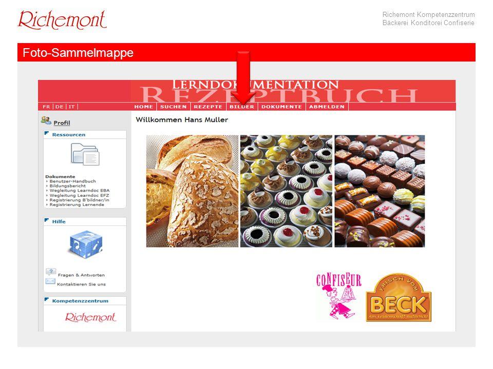 Richemont Kompetenzzentrum Bäckerei Konditorei Confiserie Foto-Sammelmappe