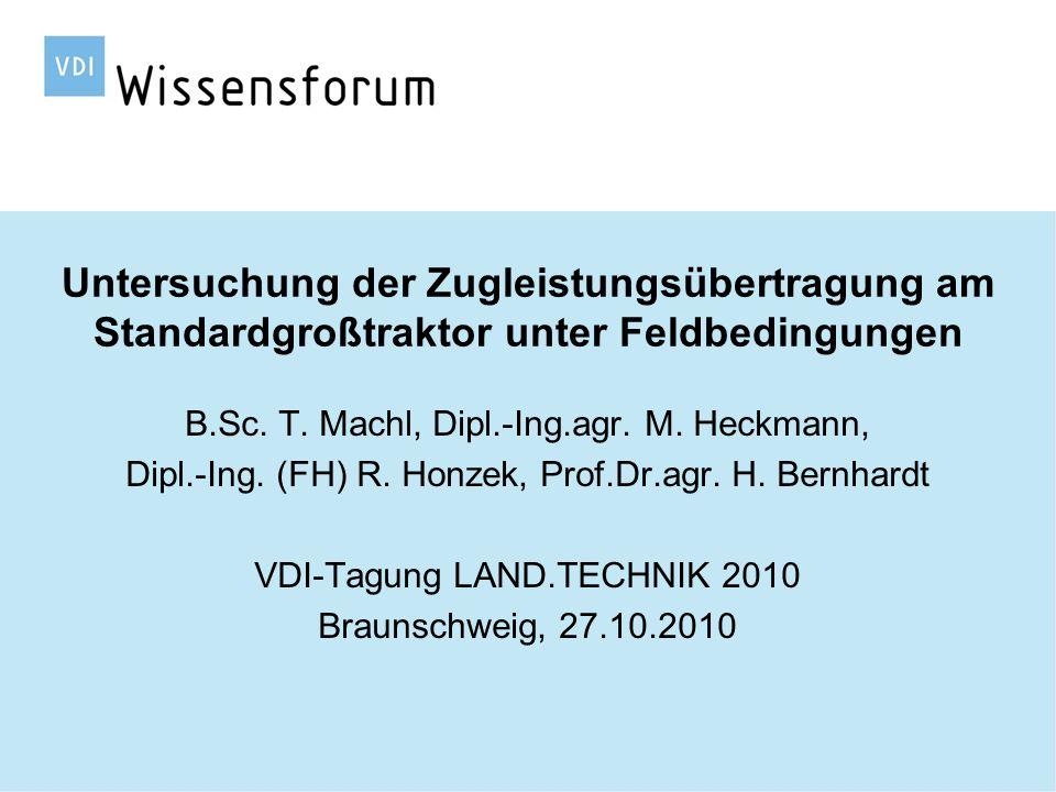 Technische Universität München Übersicht 1 Einführung 2 Zielstellung 3 Material und Methode 4 Ergebnisse 4.1 Allgemeine Beobachtungen 4.2Effekte der Ballastanbringung 4.3Effekte der Reifeninnendruckanpassung 4.4Interaktion von Ballast und Reifeninnendruck 5 Fazit 27.10.2010Thomas Machl2