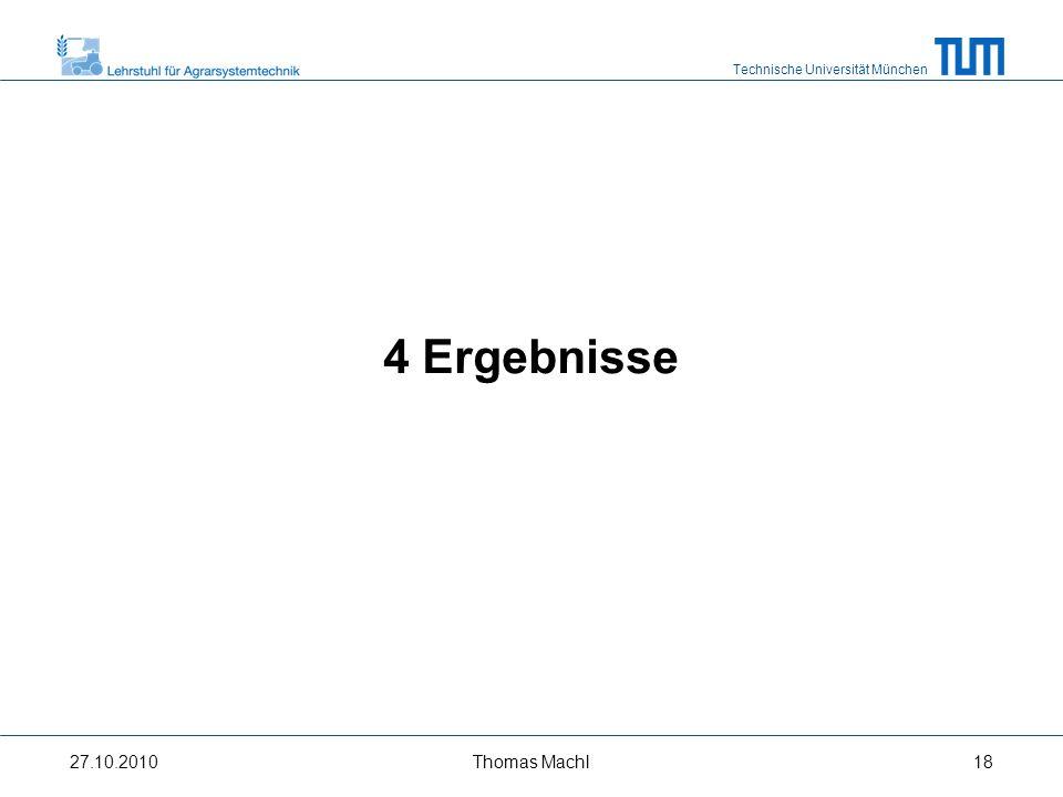 Technische Universität München Verlauf relevanter Parameter (8 km/h) Grenzlastregelung 27.10.2010Thomas Machl19