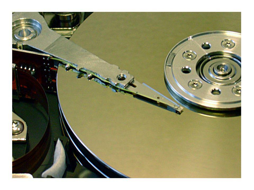 Detail Aufnahmen der Festplatte