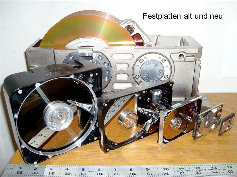 Magnetisierung In der Praxis schreibt der Kopf 135 000 Spuren pro Inch (tpi) und die Bit-Dichte in der Spur beträgt 872 000 (bpi) Stand: 2006