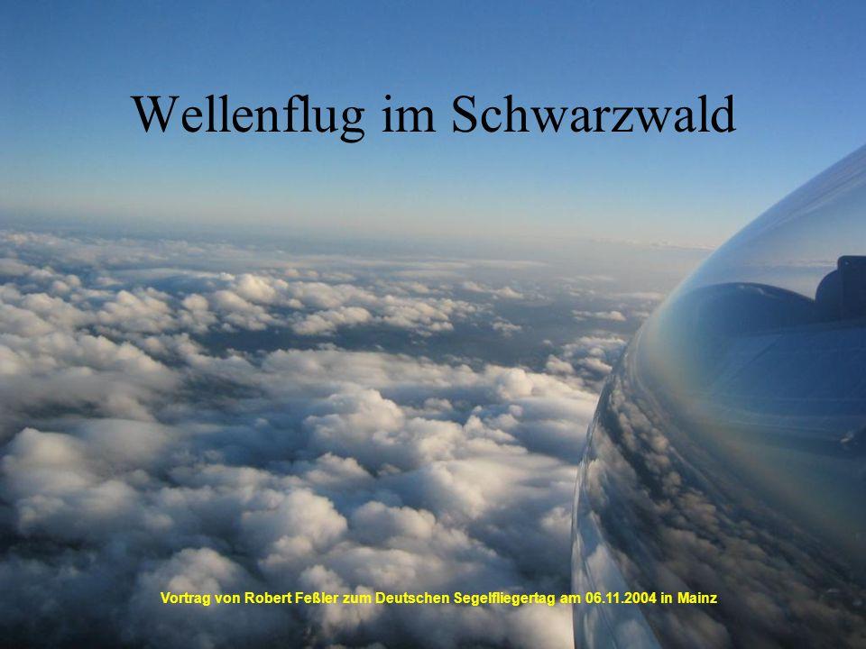 Wellenflug im Schwarzwald Vortrag von Robert Feßler zum Deutschen Segelfliegertag am 06.11.2004 in Mainz