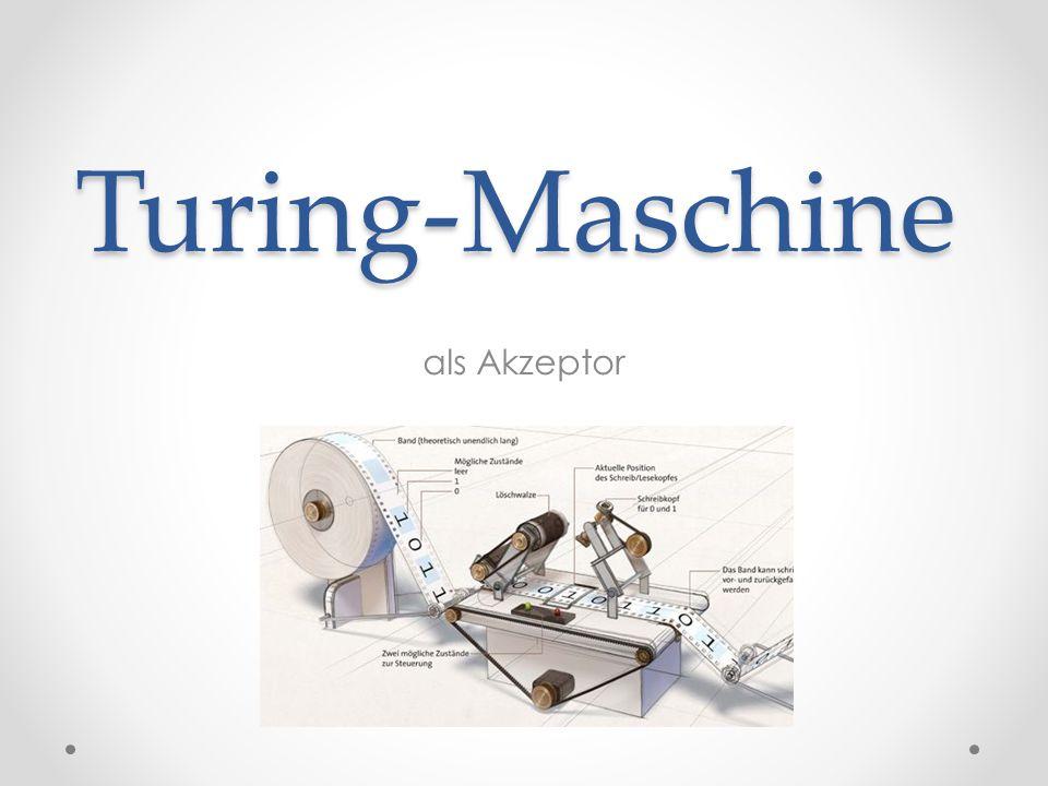 Turing-Maschine als Akzeptor